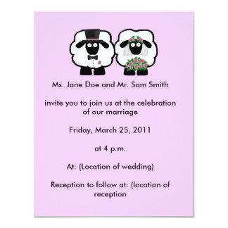 Sheep Wedding Invitation