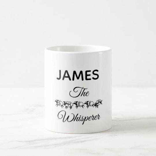 Sheep Whisperer Funny Cute Typography Add Name Coffee Mug