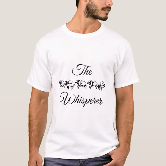 Sheep Whisperer Funny Cute Typography T-Shirt