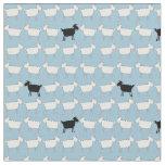 Sheep white black fun animal herd fabric