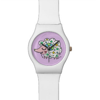Sheep (white) of star handle watch