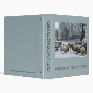 Sheep - Winter season Vinyl Binders
