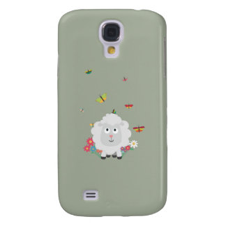 Sheep with flowers and butterflies Z1mk7
