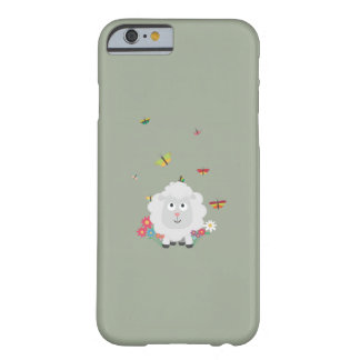 Sheep with flowers and butterflies Z1mk7 Barely There iPhone 6 Case
