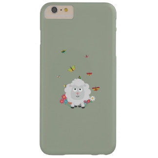 Sheep with flowers and butterflies Z1mk7 Barely There iPhone 6 Plus Case