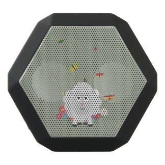 Sheep with flowers and butterflies Z1mk7 Black Bluetooth Speaker