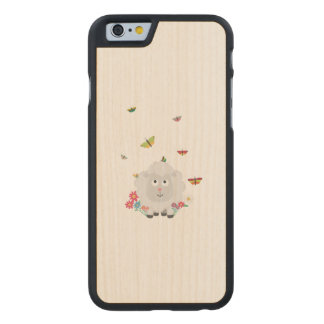 Sheep with flowers and butterflies Z1mk7 Carved Maple iPhone 6 Case