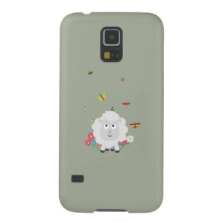 Sheep with flowers and butterflies Z1mk7 Case For Galaxy S5