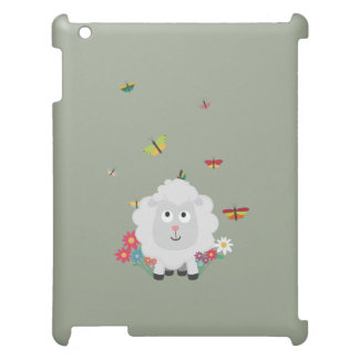 Sheep with flowers and butterflies Z1mk7 Case For The iPad