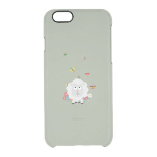 Sheep with flowers and butterflies Z1mk7 Clear iPhone 6/6S Case