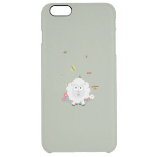 Sheep with flowers and butterflies Z1mk7 Clear iPhone 6 Plus Case