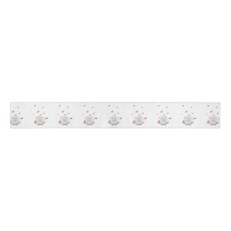 Sheep with flowers and butterflies Z1mk7 Grosgrain Ribbon