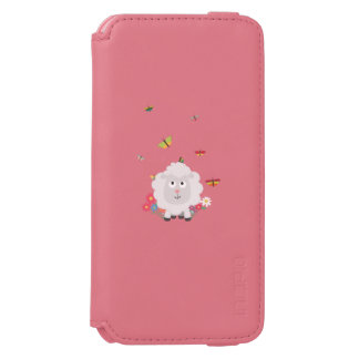 Sheep with flowers and butterflies Z1mk7 Incipio Watson™ iPhone 6 Wallet Case