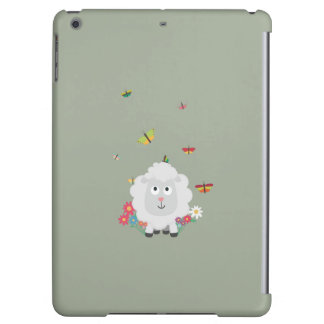 Sheep with flowers and butterflies Z1mk7 iPad Air Case