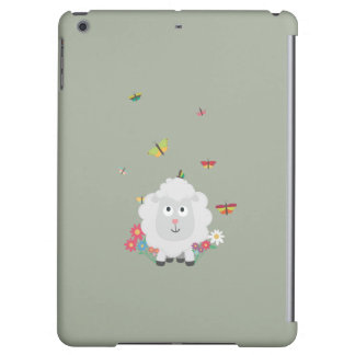 Sheep with flowers and butterflies Z1mk7 iPad Air Cover
