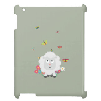 Sheep with flowers and butterflies Z1mk7 iPad Cover
