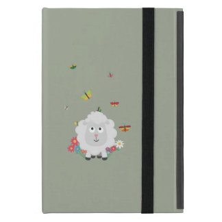Sheep with flowers and butterflies Z1mk7 iPad Mini Case