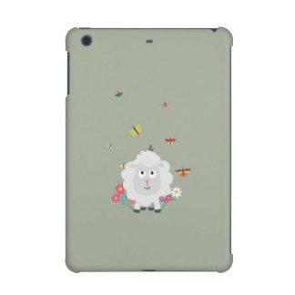 Sheep with flowers and butterflies Z1mk7 iPad Mini Cover