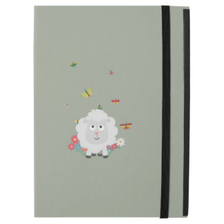 "Sheep with flowers and butterflies Z1mk7 iPad Pro 12.9"" Case"