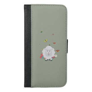 Sheep with flowers and butterflies Z1mk7 iPhone 6/6s Plus Wallet Case