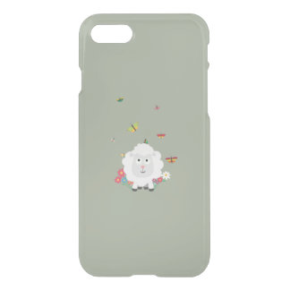 Sheep with flowers and butterflies Z1mk7 iPhone 7 Case