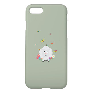 Sheep with flowers and butterflies Z1mk7 iPhone 8/7 Case