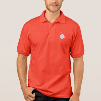 Sheep with flowers and butterflies Z1mk7 Polo Shirt
