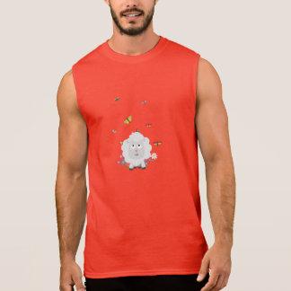 Sheep with flowers and butterflies Z1mk7 Sleeveless Shirt