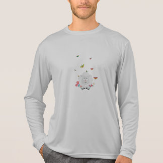 Sheep with flowers and butterflies Z1mk7 T-Shirt