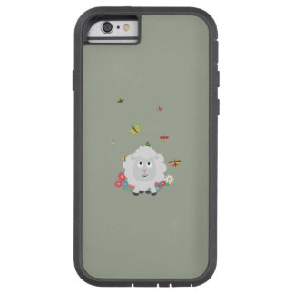 Sheep with flowers and butterflies Z1mk7 Tough Xtreme iPhone 6 Case
