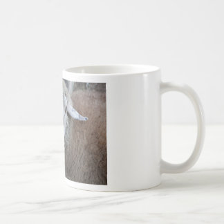 Sheep with hay coffee mug