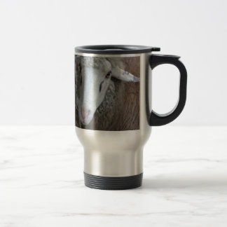 Sheep with hay travel mug