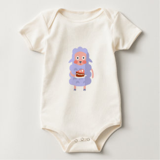 Sheep With Party Attributes Girly Stylized Funky S Baby Bodysuit