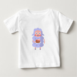 Sheep With Party Attributes Girly Stylized Funky S Baby T-Shirt