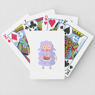 Sheep With Party Attributes Girly Stylized Funky S Bicycle Playing Cards