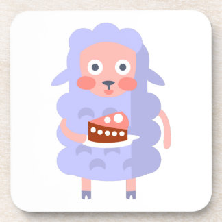 Sheep With Party Attributes Girly Stylized Funky S Coaster