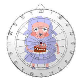 Sheep With Party Attributes Girly Stylized Funky S Dartboard