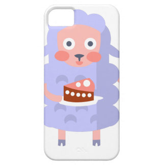 Sheep With Party Attributes Girly Stylized Funky S iPhone 5 Cover