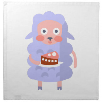 Sheep With Party Attributes Girly Stylized Funky S Napkin