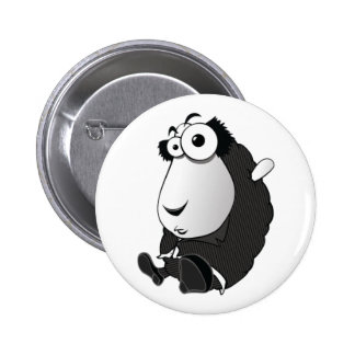 Sheepa Chaplin 2 Inch Round Button