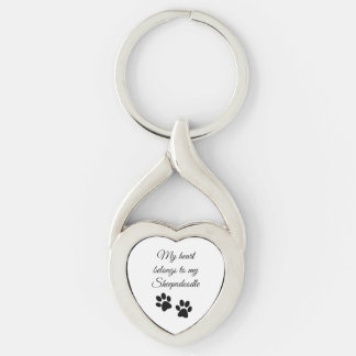 Sheepadoodle Keychain