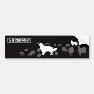 Sheepdog - long bumper sticker
