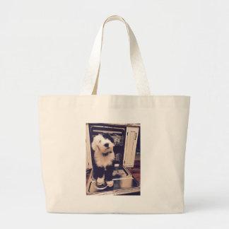 Sheepdog Love Large Tote Bag