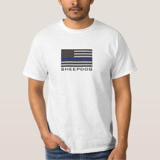 SHEEPDOG with THIN BLUE LINE AMERICAN FLAG T-Shirt