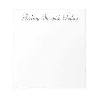 Sheepish Notepad