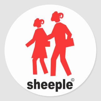 Sheeple Round Sticker