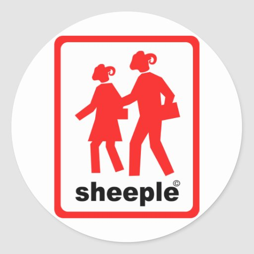 Sheeple Stickers