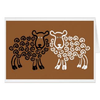 Sheep's eyes card