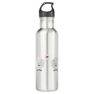 Sheeps in love with heart Z7b4v 710 Ml Water Bottle