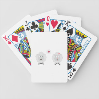 Sheeps in love with heart Z7b4v Bicycle Playing Cards